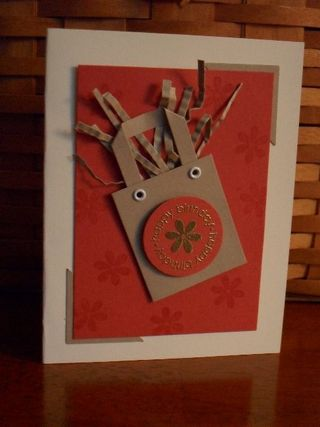 Think Happy Thoughts Gift Bag Card