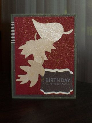 Fall Birthday Card with Wood Sheets