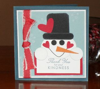 Snowman thank-you