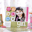 Girl Scrapbook page