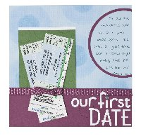 First Date Scrapbook Page