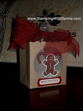 Gingerbread Man Fancy Favor Box