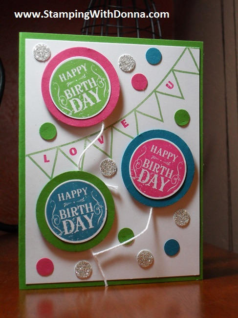 Blue Ribbon birthday card wm
