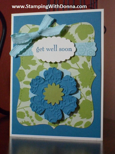 Get Well Blossom Punch Card 2