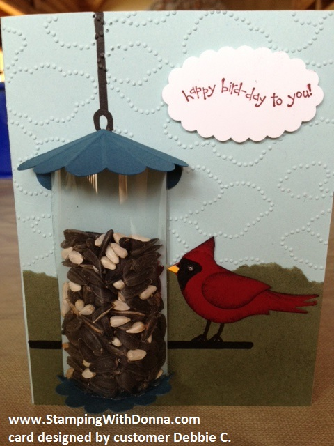 Debbie's bird feeder card wm