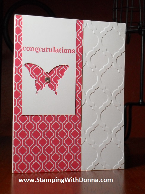 Modern Mosaic Emb Folder with Butterfly