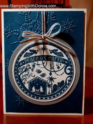 Peace on earth ornament card